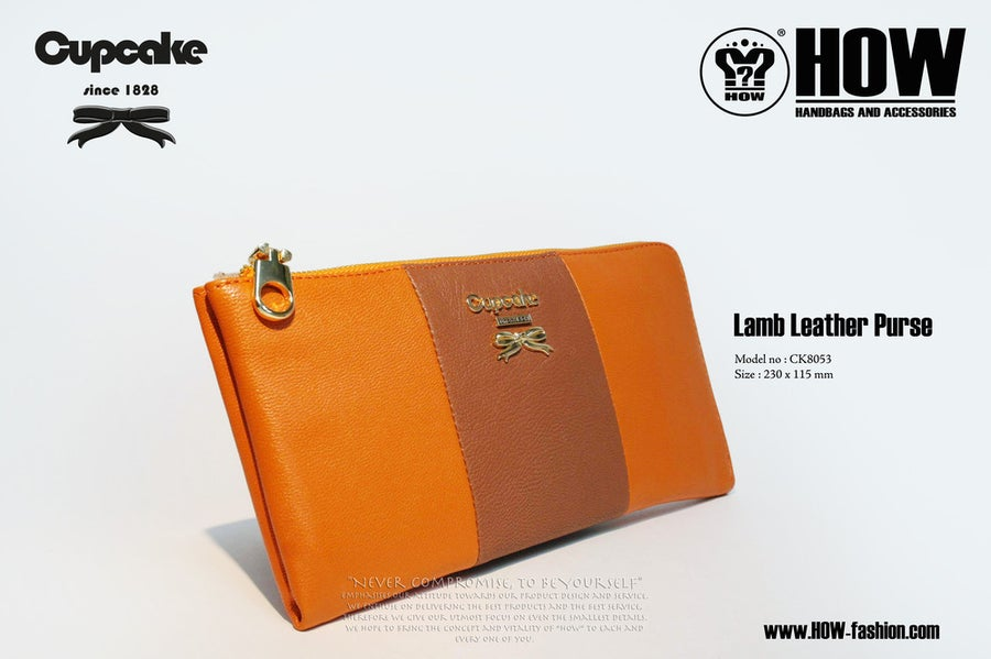 Image of Lamb Leather Purse [CK8053ORG]