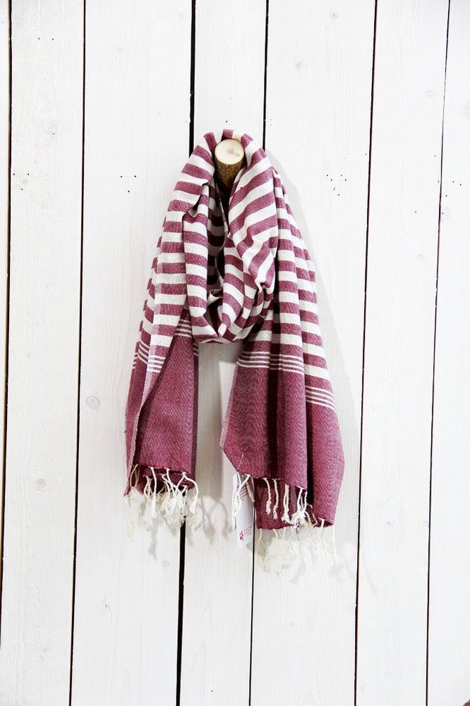 Image of Schal aus Baumwolle ∞ Aubergine
