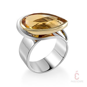 "Image of Bague ""Brin d'herbe"" Citrine"