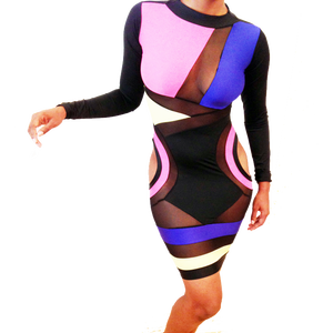 Image of Killa Dress (Multi-colored: Black, Royal Blue, Pink, Yellow)