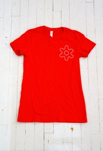 Image of WOMEN'S GEAR T-SHIRT IN RED