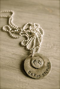 Image of Little Feet Necklace