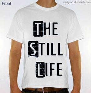Image of T-Shirt Stacked Design (White)