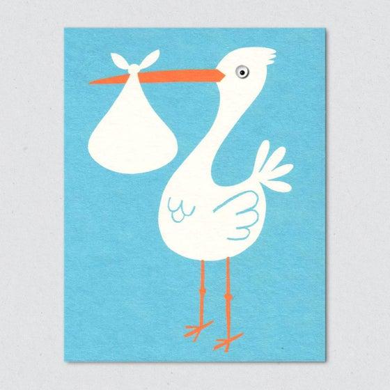 Image of Stork, blue