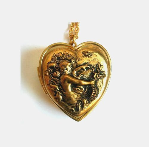 Image of Fill My Heart With Song ~ Mermaid and Seahorse Musical Heart Locket