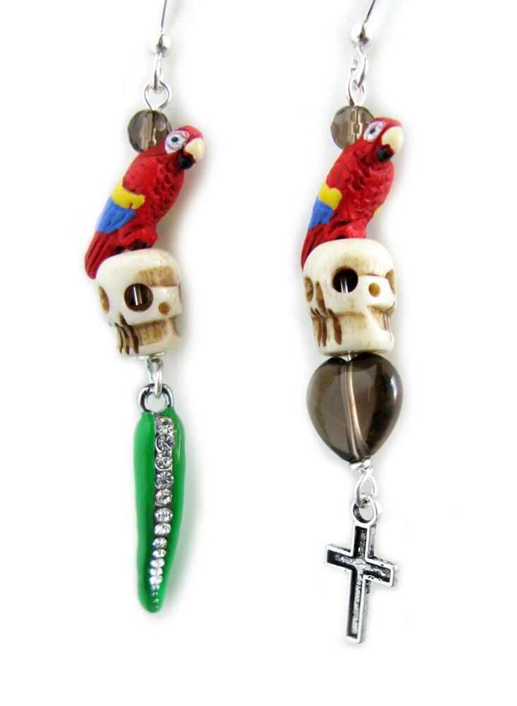 Image of Pirate Skull Earrings