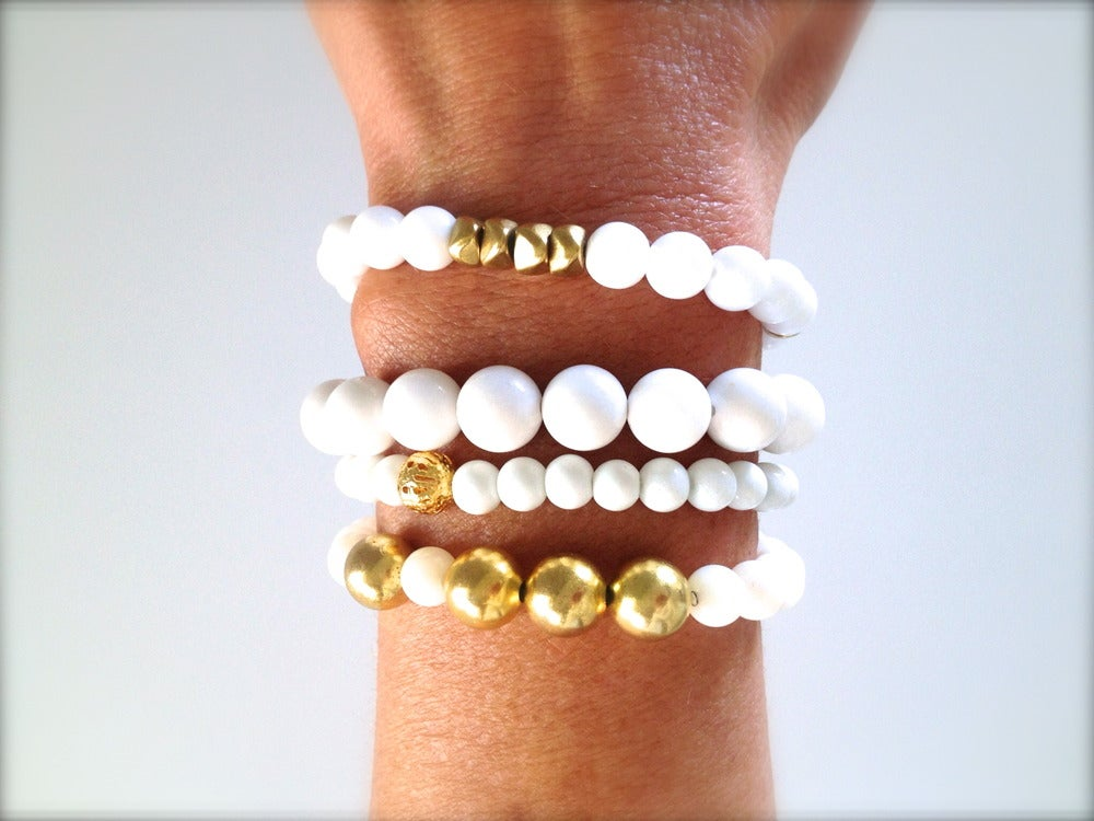 Image of Golden Goddess Bracelet Stack