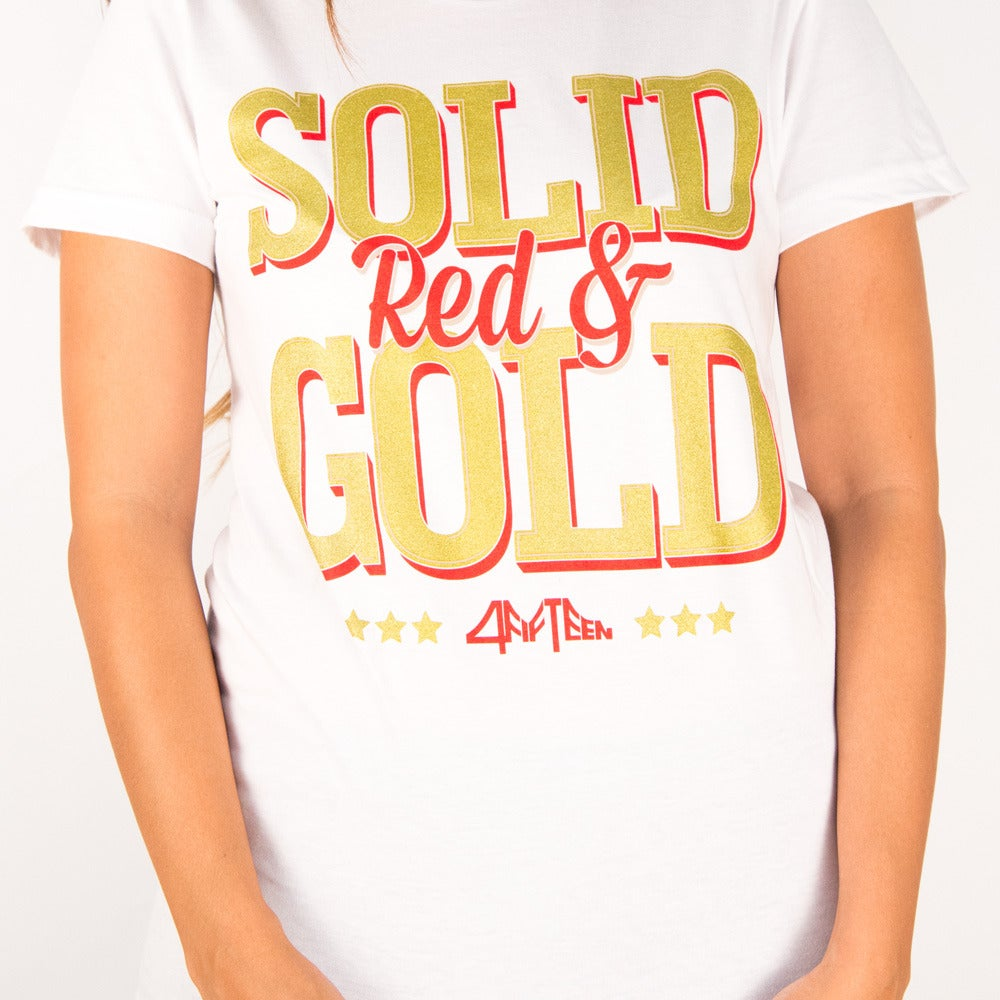 Image of Solid Red & Gold