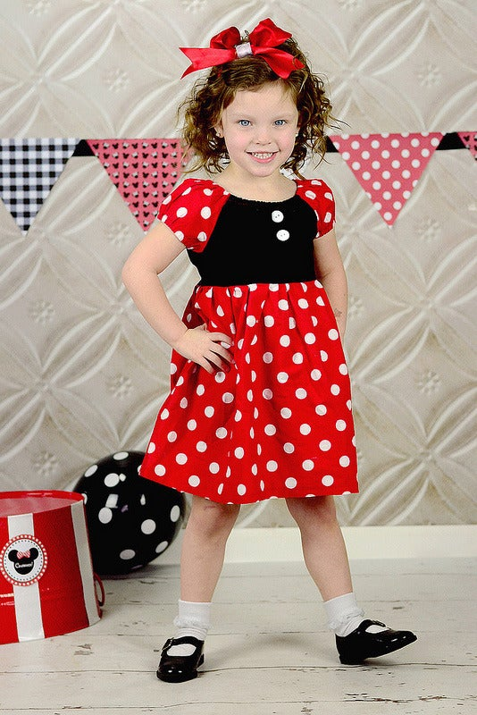 Image of Minnie Mouse Inspired Princess Dress