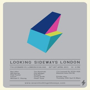 Image of Looking Sideways London Show Poster