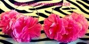 Image of Floral Hoop Earrings