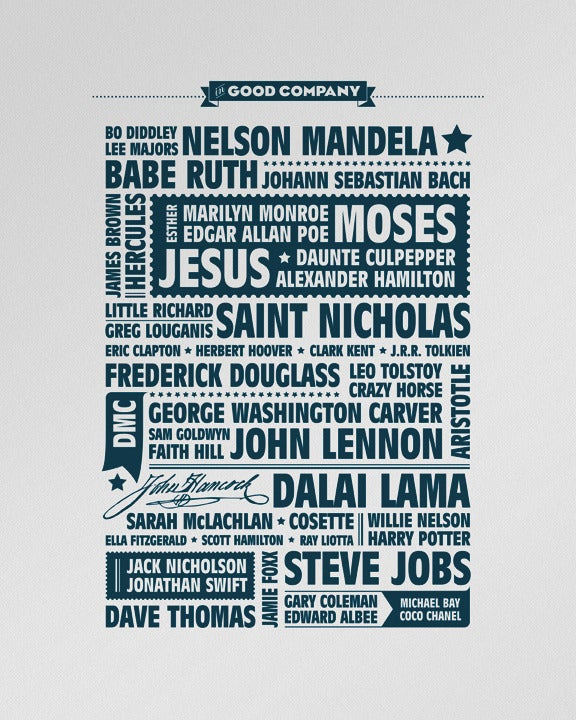 "Image of ""In Good Company"" letterpress poster"