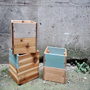 Image of 4.2 Bac à fleurs - Cedar planters