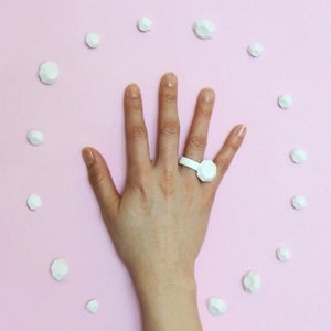 Image of Large Diamond Bone China Ring