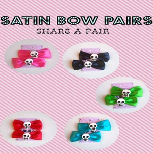 Image of Satin Bow Pair
