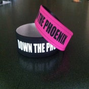 Image of Down The Phoenix 1inch wristbands