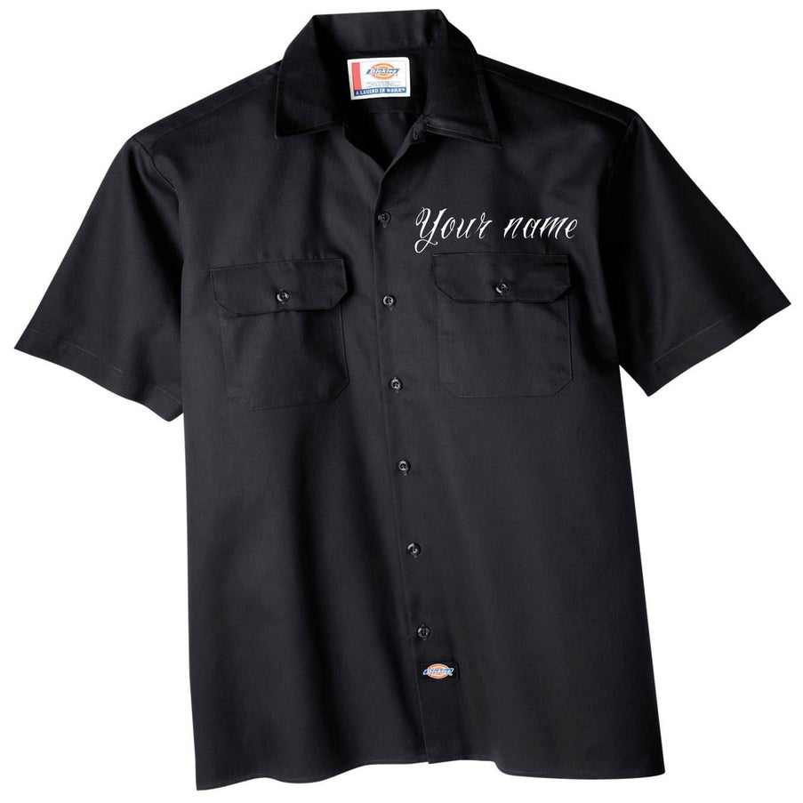 Life 39 s a drag clothing dickies work shirts custom front for Embroidered dickies work shirts