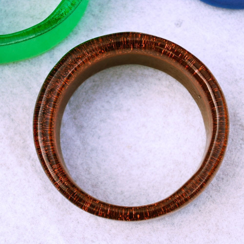 Image of Mamie bangle in mocha brown