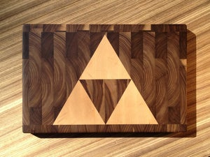 Image of Triforce End-Grain Cutting Board