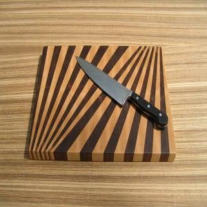 Image of Fan Pattern End-Grain Cutting Board