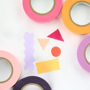 Image of Solid Pink, Red, Orange + Purple Color Washi Tape