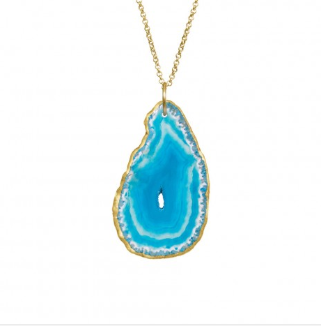 Image of Poppy Natural Stone Necklace:: Turquoise Sea
