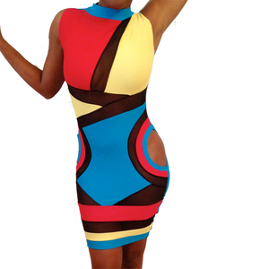 Image of Sleeveless Killa Dress (Multi-colored: Black, Blue, Red, Yellow)