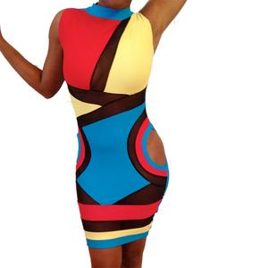 Image of Sleeveless Killa Dress (Multi-colored: Black, Blue, Red, Yellow)