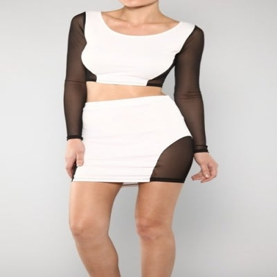 Image of THE MIA TWO PIECE Sexy Mesh Trim Two Piece