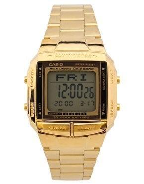 Image of Casio DB-360GN Digital Gold Watch.