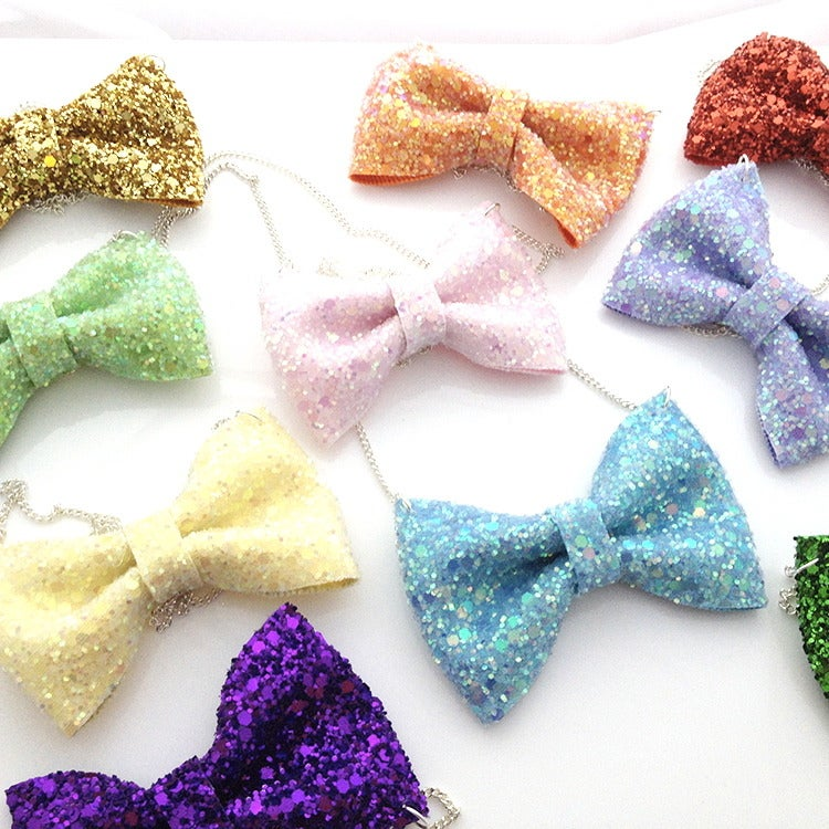 Image of Glitter Bow Necklace