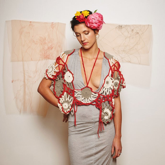Image of Wrapped in Garlands Crocheted Cover-up
