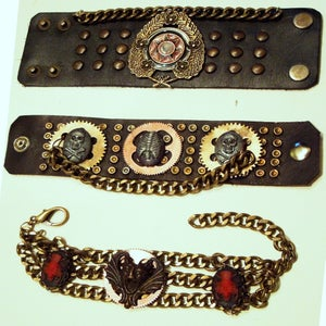 Image of Leather & Chain Bracelets