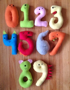 Image of Complete Set of Monster Numbers 0-9