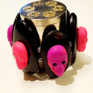 Image of Pink & Purple Skulls Bracelet