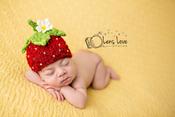 Image of Strawberry Handspun Beanie