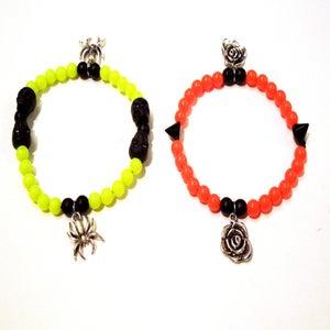 Image of Neon Charm Bracelets