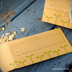 Image of Green Seedling Personalized Seed Envelopes {#205}