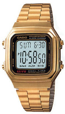 Image of Casio A178WGA-1A Digital Gold Watch