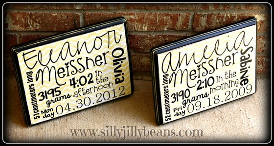 Image of Baby's Birth Stats Wall Decor (Discount when you order more than one!)