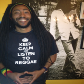 Image of Black Keep Calm Listen To Reggae Guys TShirt