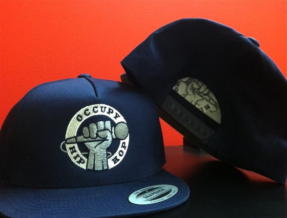 Image of  Navy Blue Occupy Hip Hop Snapback Hat
