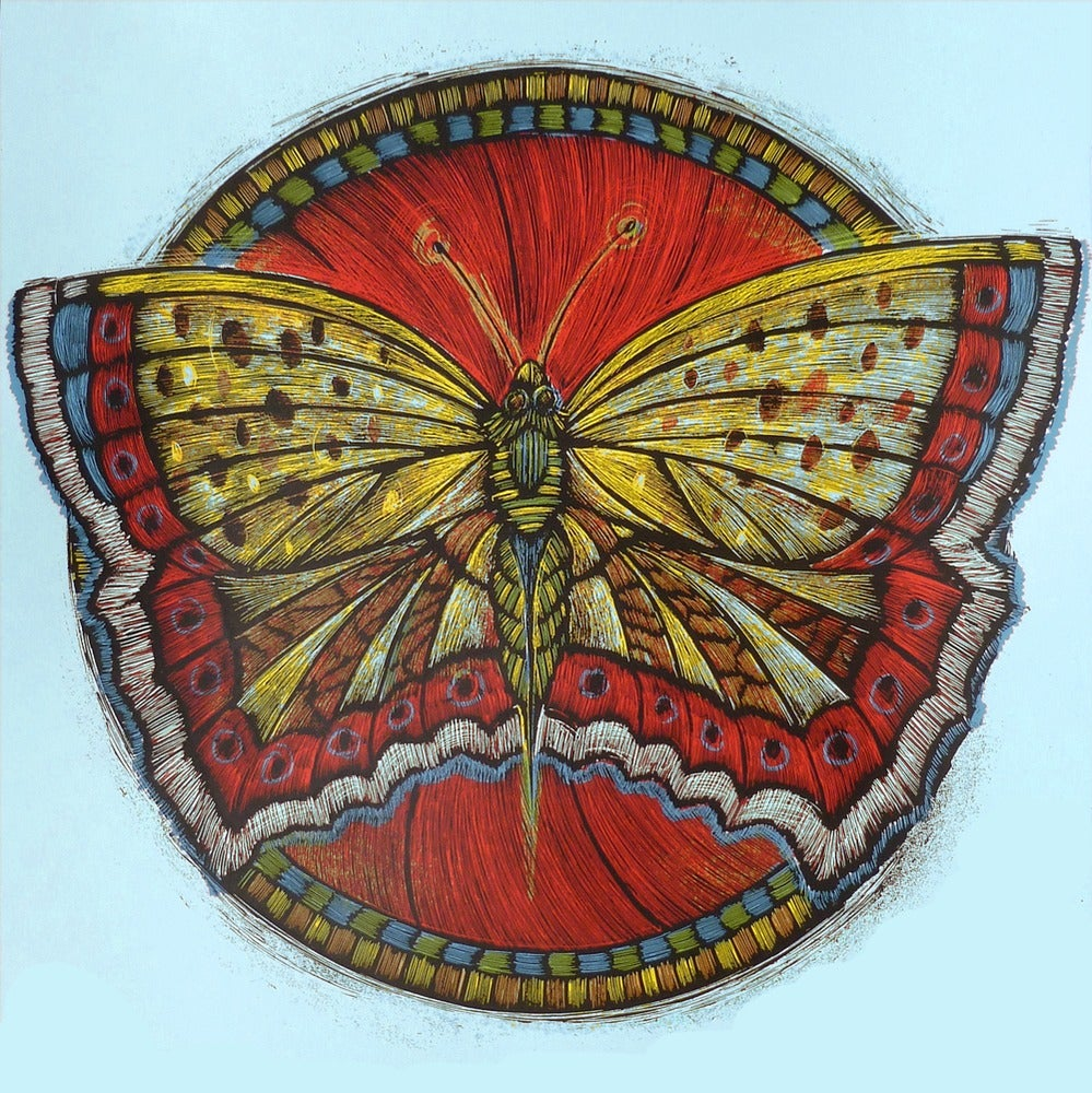 Image of Wooden Resurrection Butterfly Blue Colorway