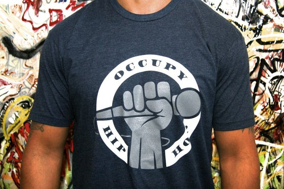 Image of Navy Blue Occupy Hip Hop Tee