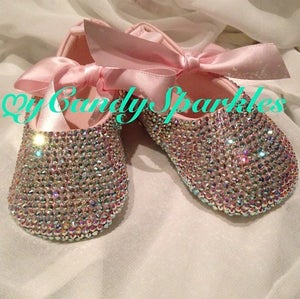Image of Baby Ballerina shoes with  Crystal