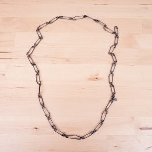 Image of Number (N)ine - Oxidized Silver Safety Pin Necklace