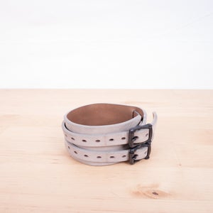 Image of Number (N)ine - Leather Double Strap Cuff Bracelet