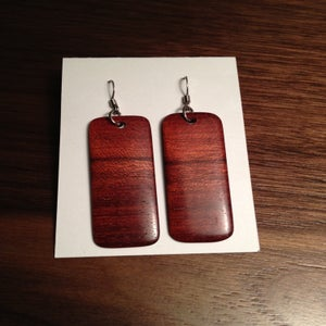 Image of Bloodwood Rectangle Earrings