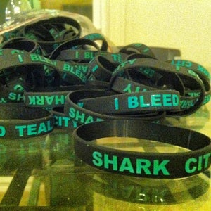 Image of SHARK CITY - I BLEED TEAL wristband