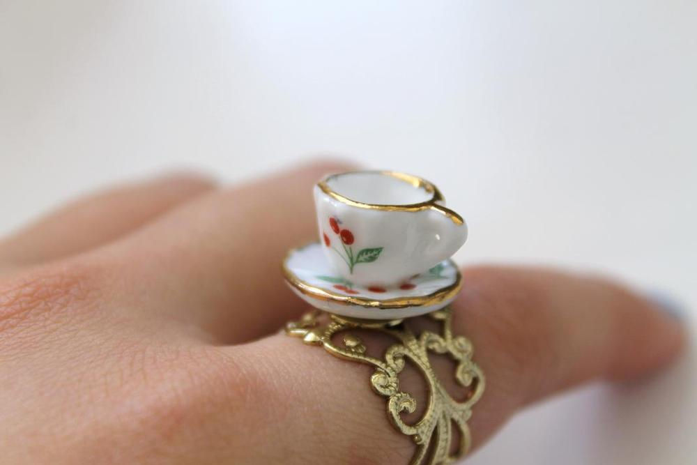 Image of Cherry Tea Cup Ring (Originally $24)